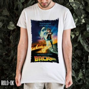 camiseta back to the future rolo-ok blanca diseño independiente