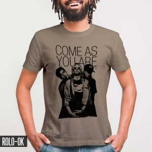 nirvana come as you are marca rolo-ok camiseta
